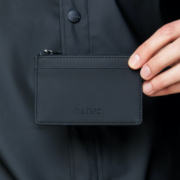 rains zip wallet black