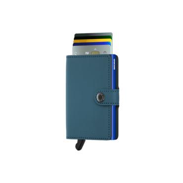 secrid miniwallet matte petrol blue