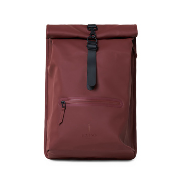 rains rolltop rucksack maroon