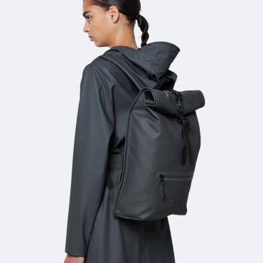 rains rolltop rucksack slate
