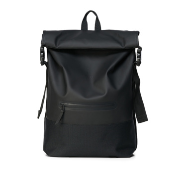 rains buckle rolltop rucksack black