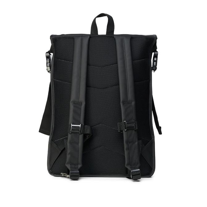 rains buckle rolltop rucksack black