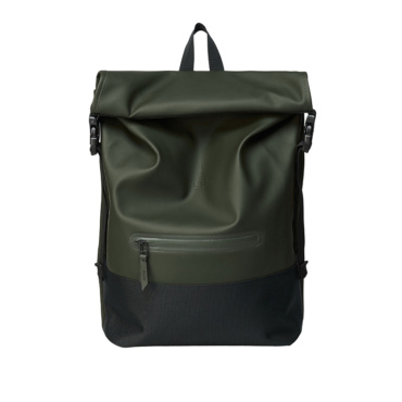 rains buckle rolltop rucksack green