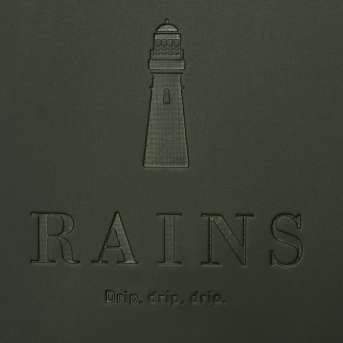 rains buckle rolltop rucksack green