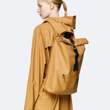 rains rolltop rucksack khaki