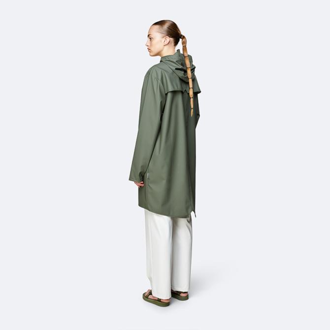 rains long jacket olive