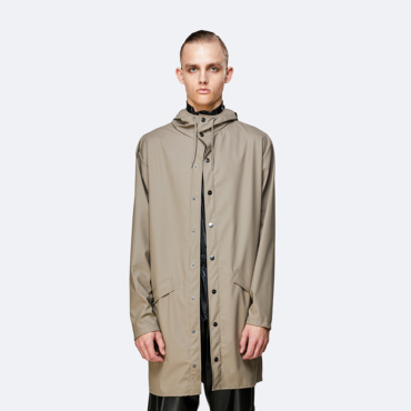 rains long jacket taupe
