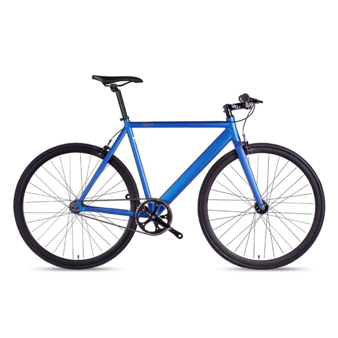 6ku track fixie single speed bike navy