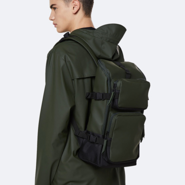 rains charger backpack green