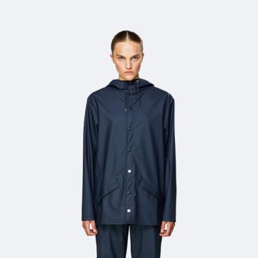 rains jacket blue