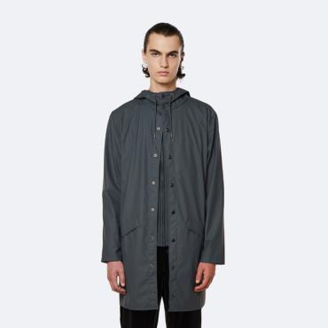 rains long jacket slate