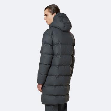 rains long puffer jacket slate